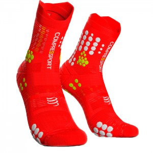 MEIAS RACING SOCKS V3.0 TRAIL RED/WHITE
